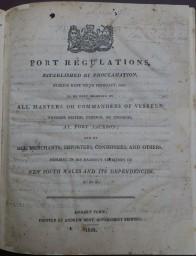 Port Regulations 1822