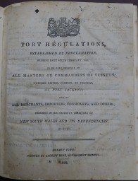 Port Regulations 1822