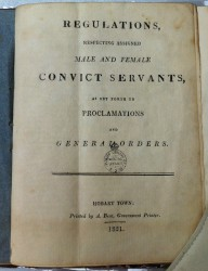 Regulations, Respecting Assigned Male and Female Convict Servants