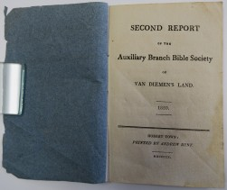 Second Report of the Auxiliary Branch Bible Society of Van Diemen's Land 1820