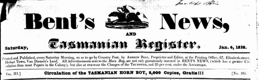 Bent's News 6 Jan 1838