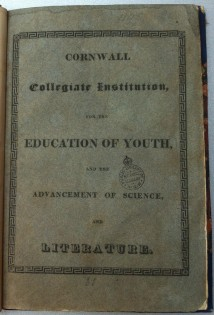 Cornwall Collegiate Institution 1827 (2)