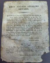 Fifty pound sterling reward