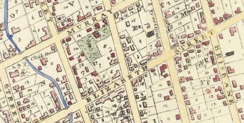 Frankland map 1839 detail