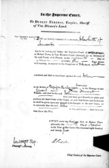 summons Supr Court 1825Tas Papers 148