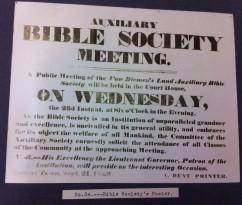 VDL Aux Bible Soc poster 1829