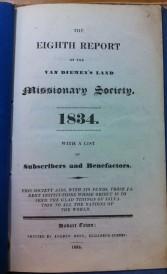 VDL Miss Soc report 8th 1834
