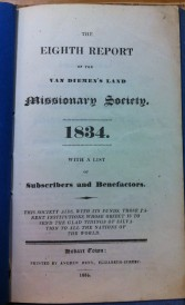 VDL Miss Soc report 8th 1834