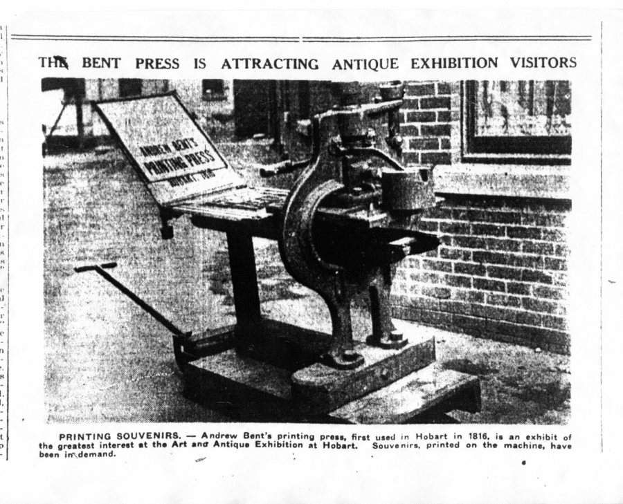 Bent Press Hobart exh 1931