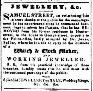 Samuel Street Sydney Gazette 31 Oct 1833