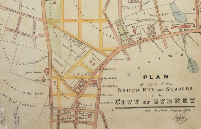 Bemi plan of part of the south end 1842 cropped