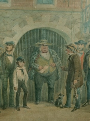 The Governor and staff at the Adelaide Gaol B-17790