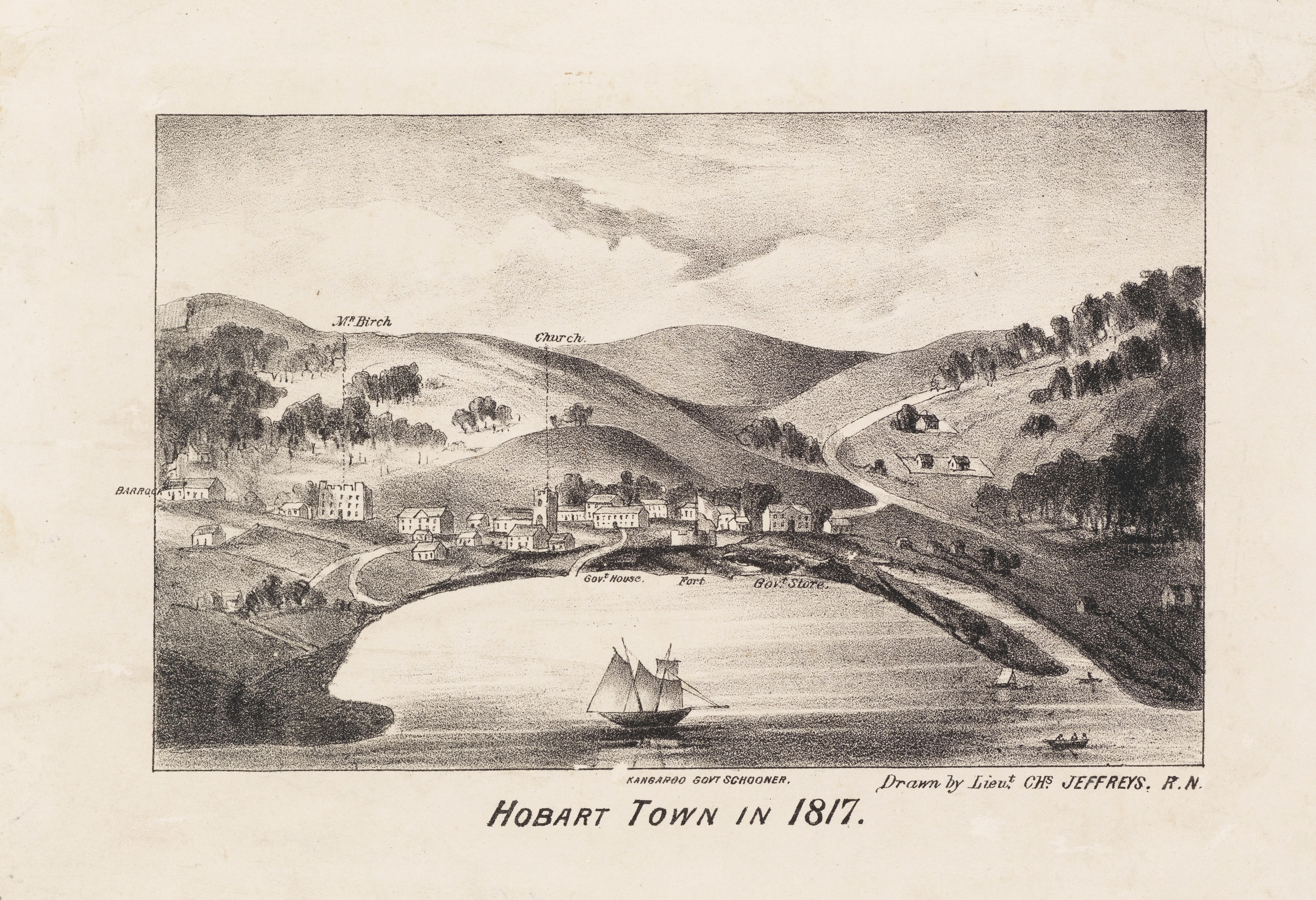 Hobart Town in 1817