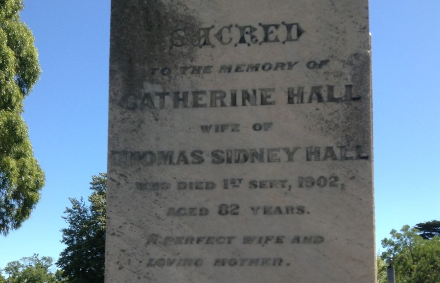 Grave of Hall, T S Melbourne General cemetery (Catherine) 2