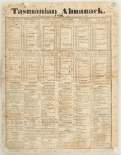 Sheet almanack 1826