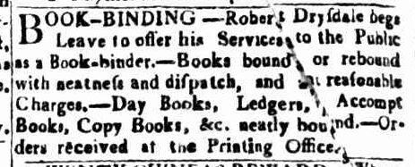 Drysdale ad 13 Mar 1819
